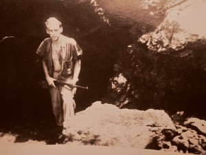 SGT Donald Delorm outside Saipan cave