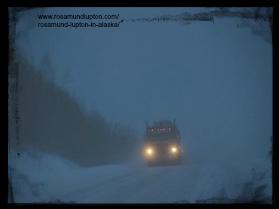 stormy Alaska road