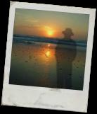 ghost on beach frame